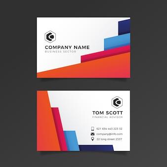 Визитная карточка абстрактный набор шаблонов