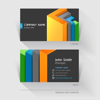 Business card abstract with geometric shapes