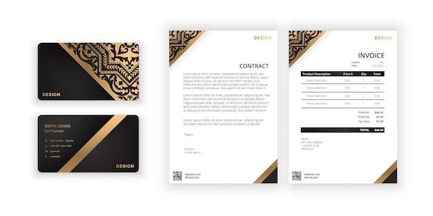 사무실 회사를 위한 명함 및 빈 현대적인 미니멀리즘 템플릿 문서 디자인 템플릿