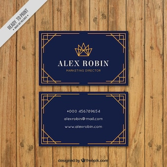 Business card in art deco style