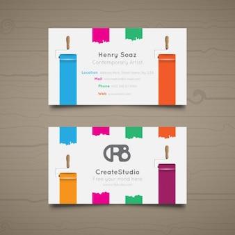 Business card for art studio
