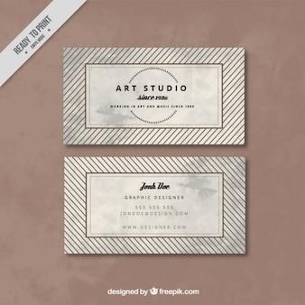 Business card for an art studio