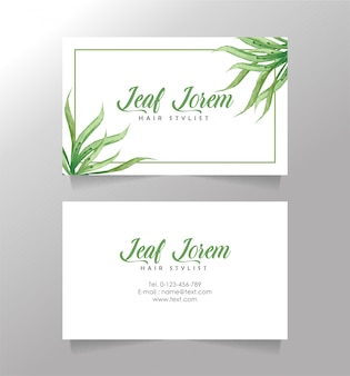 Business card beautiful floral template
