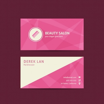 Business card for beauty salons and hairdressers Free Vector