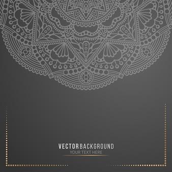 Business card black mandala background