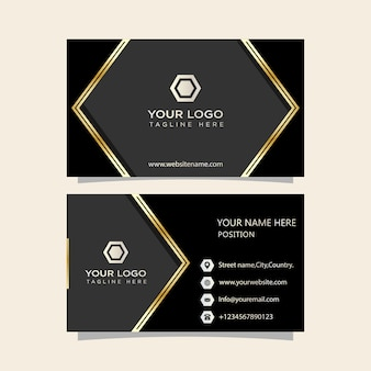 Business card black
