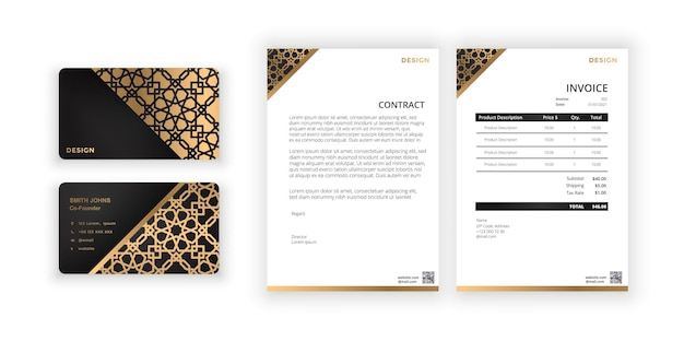 Business card and blank modern minimalist template document design template for office company