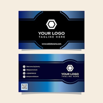 Business card blue gradient