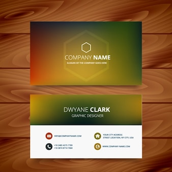 Business card in blurred style