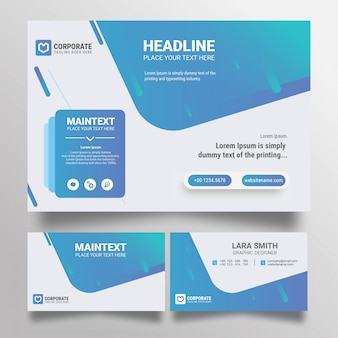 Business card and business banner