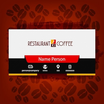 Business card of cafeteria