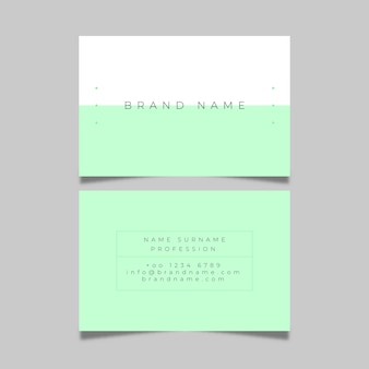 Business card colorful minimal pack