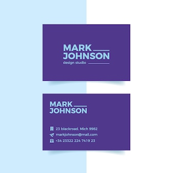 Business card colorful minimal template collection