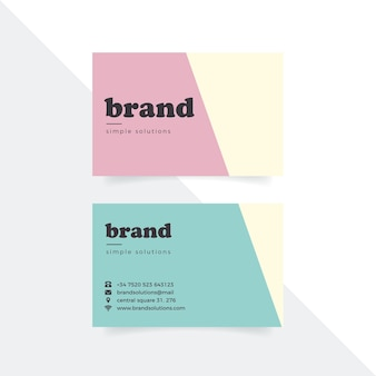 Business card colorful minimal template