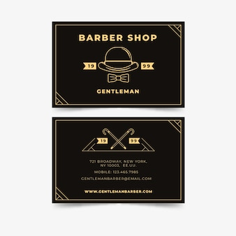 Business card concept for barber shop in new york
