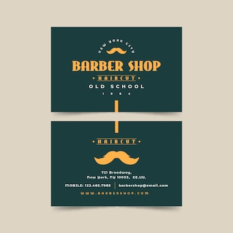 Business card concept for barber shop