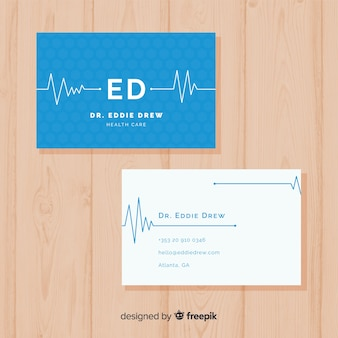 Business card concept for hospital or doctor