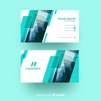 Business card concept for template with photo
