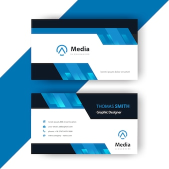 Business card corporate modern card