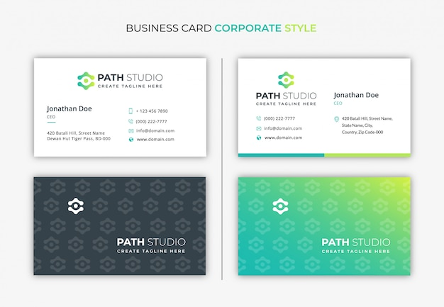 Business card corporate style