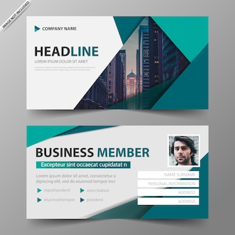 Business card course ticket member template