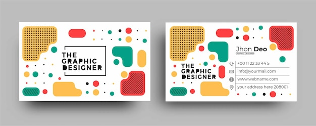 Business card - creative and clean business card template.
