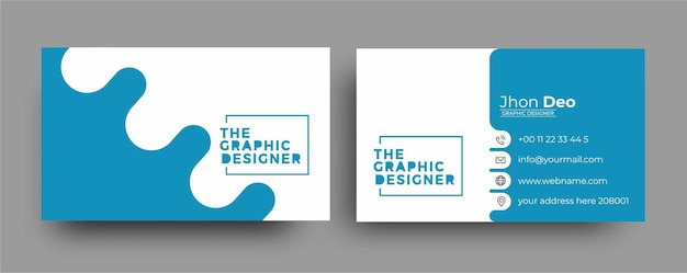 Business card - creative and clean modern business card template.