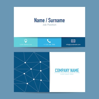 Business card creative design template vector background