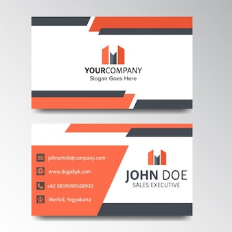Business card decorated with geometric shapes