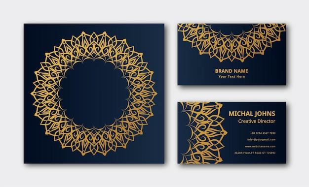 Business card decoration background mandala vector