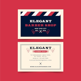 Business card design for barber shop
