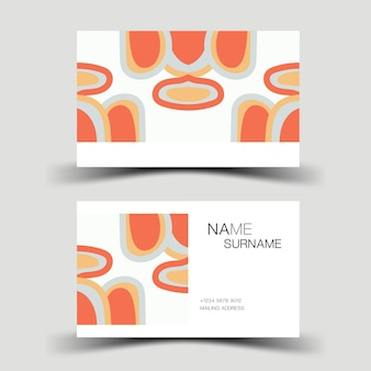 名刺デザイン会社の連絡先カード両面ベクトルイラスト