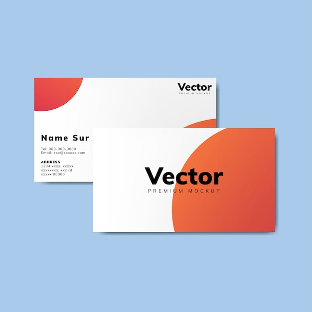 Business card design mockup vector