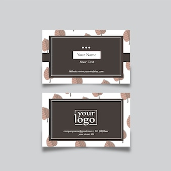 Business card design natural
