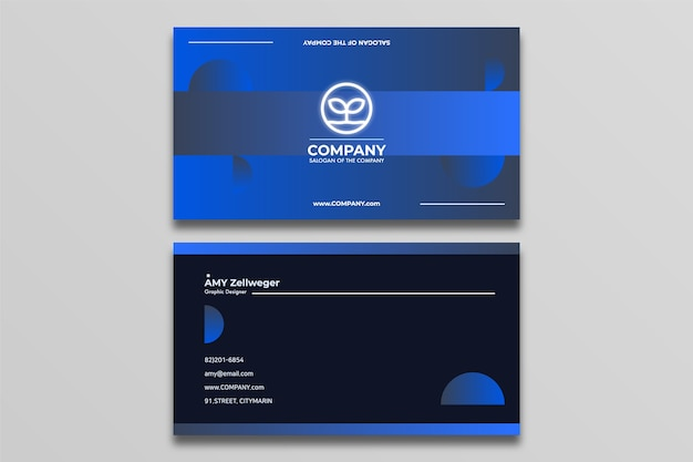 Business card design simple and modern