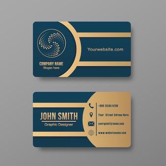 Шаблон дизайна визитной карточки карточка контакта для компании современный креативный и чистый шаблон