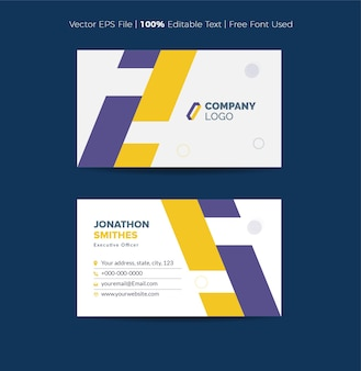 Business card design or  visiting card and personal card