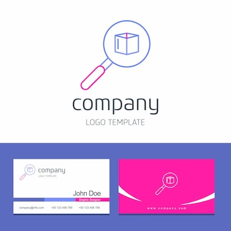 Business card design with arrows company logo vector