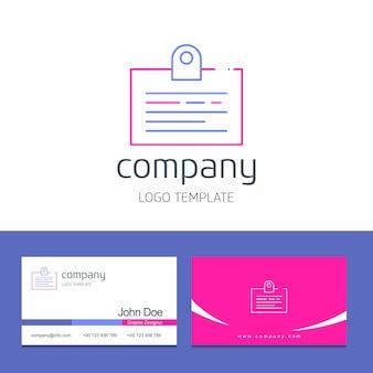 Дизайн визитной карточки с логотипом бизнес-логотипа