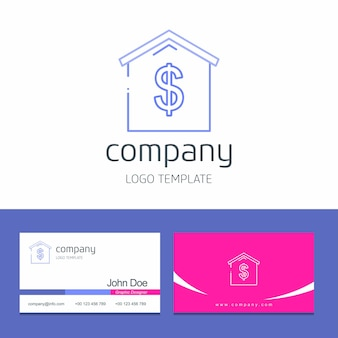 Business card design with  business logo design vector