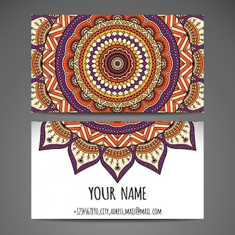 Business card design with mandala