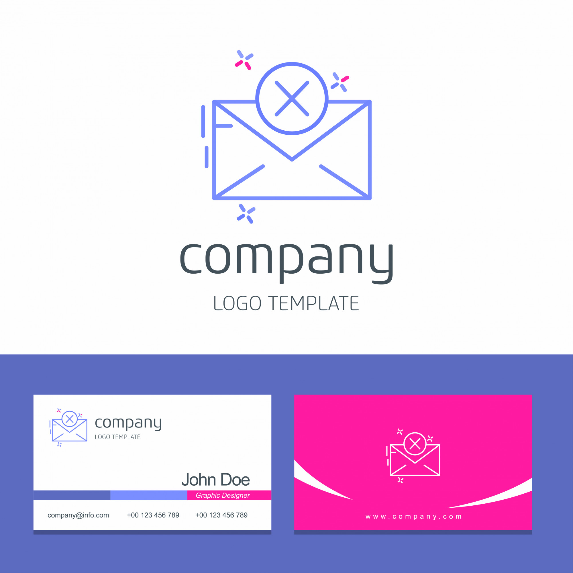 Business card design with message logo vector