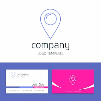 Business card design with navigation company logo vector