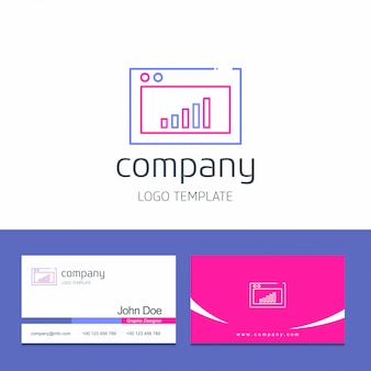 Business card design with office logo vector