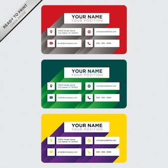 Business card designs Free Vector