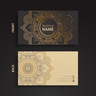 Business card, ethnic style