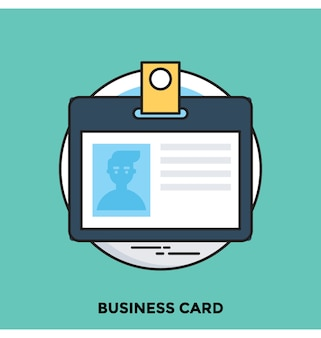 Business card flat vector icon