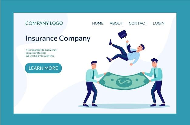 Визитная карточка для страховой компании