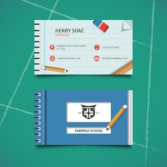 Шаблон визитной карточки образование