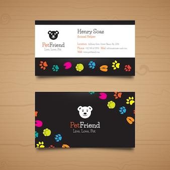 Шаблон pet визитных карточек
